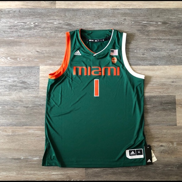 adidas Other - ADIDAS MIAMI AUTHENTIC BASKETBALL JERSEY BNWT
